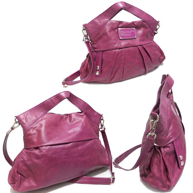 マークジェイコブス 2way 綺麗な赤紫 レザーバッグ MARC by MARC JACOBS