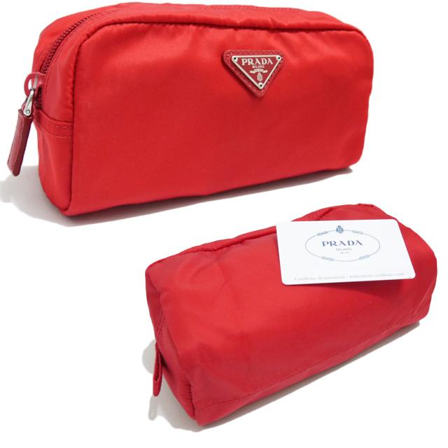 プラダ ナイロン化粧ポーチ 1N0350 赤(ROSSO) PRADA