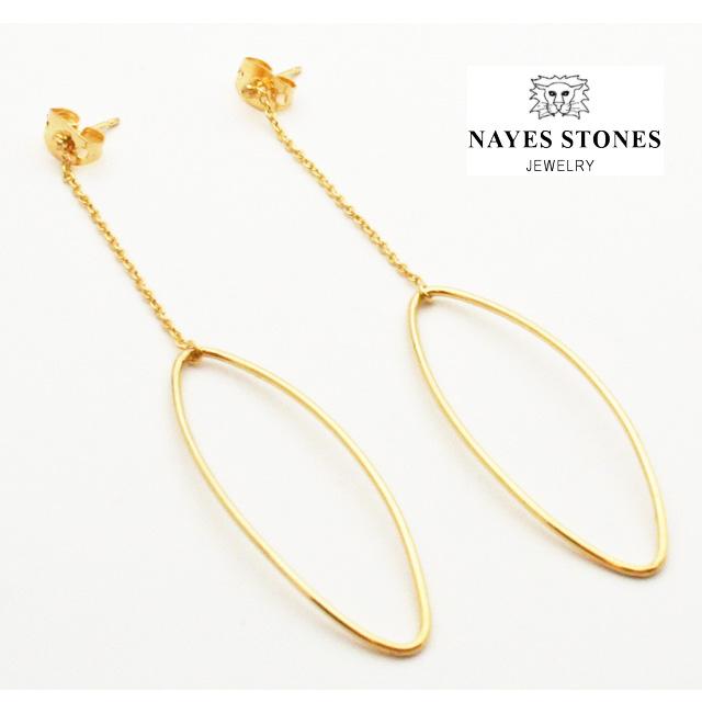 NAYES STONES  ベルギー発ジュエリー スイング フープピアス ゴールド(シルバー925)