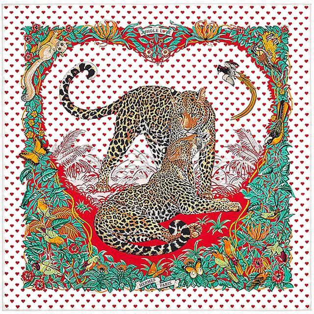 エルメス 2020ヴァレンタイン限定 Carré 90 Jungle Love Love ジャングル・ラブ・ラブ シルクスカーフ カレ90 HERMES