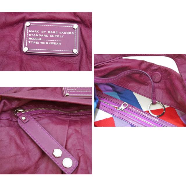 マークbyマークジェイコブス 2way 綺麗な赤紫 レザーバッグ MARC by MARC JACOBS