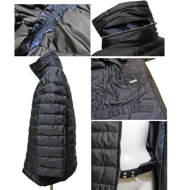 ミュウミュウ 可愛いダウンジャケット(コート) 黒 #40 miu miu
