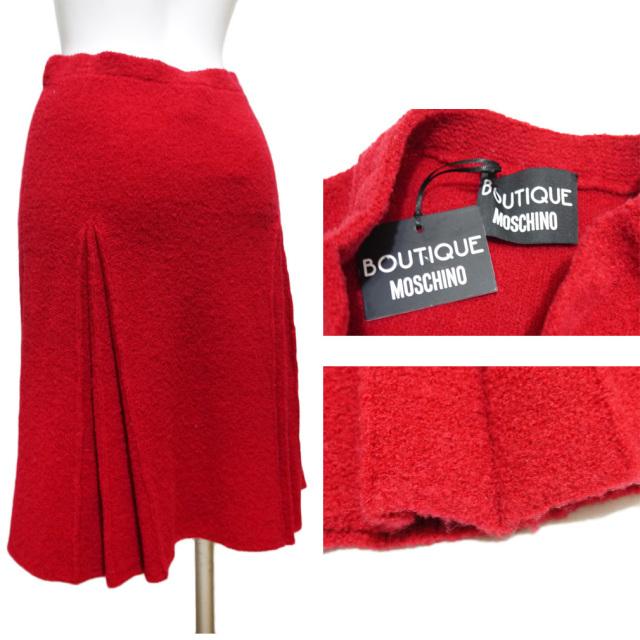 モスキーノ ニットスカート 赤 #38 MOSCHINO