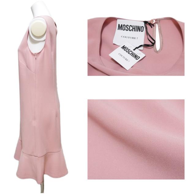 モスキーノ エレガントなノースリーブワンピース ピンク #40 MOSCHINO