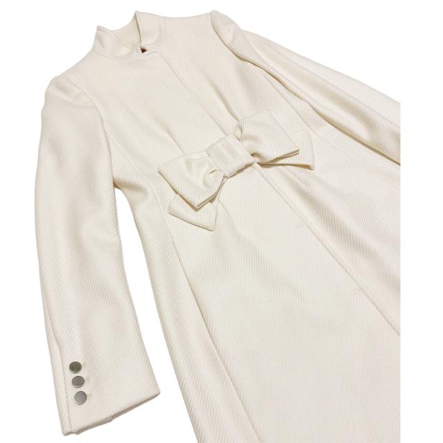 モスキーノ リボンが可愛いコート 白 #38 MOSCHINO
