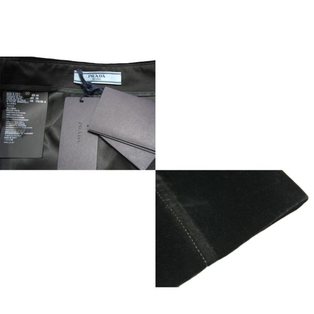 プラダ ベルベット タイトスカート 黒 #40 PRADA