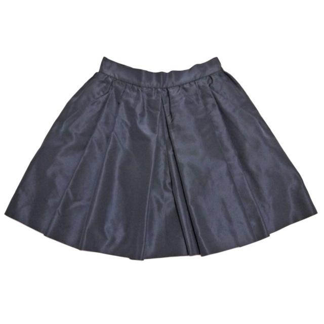 プラダ フレアー キュロットスカート ネイビー #38 PRADA