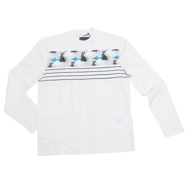 プラダ メンズ うさぎ 長袖Tシャツ(ロンT) 白 #S PRADA