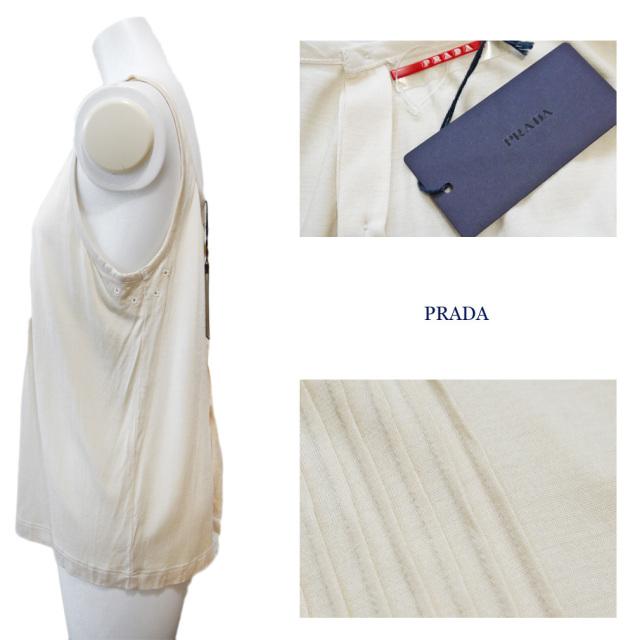 プラダ シルク キャミソール オフホワイト #M PRADA