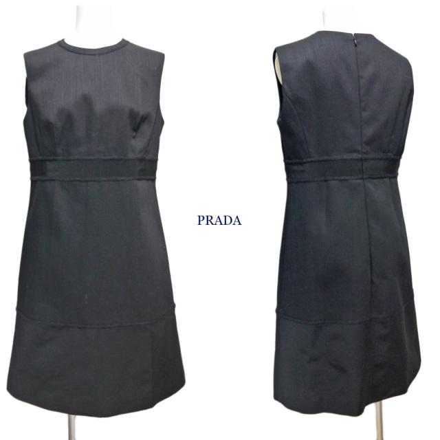 プラダ ノースリワンピース 黒 #44 PRADA