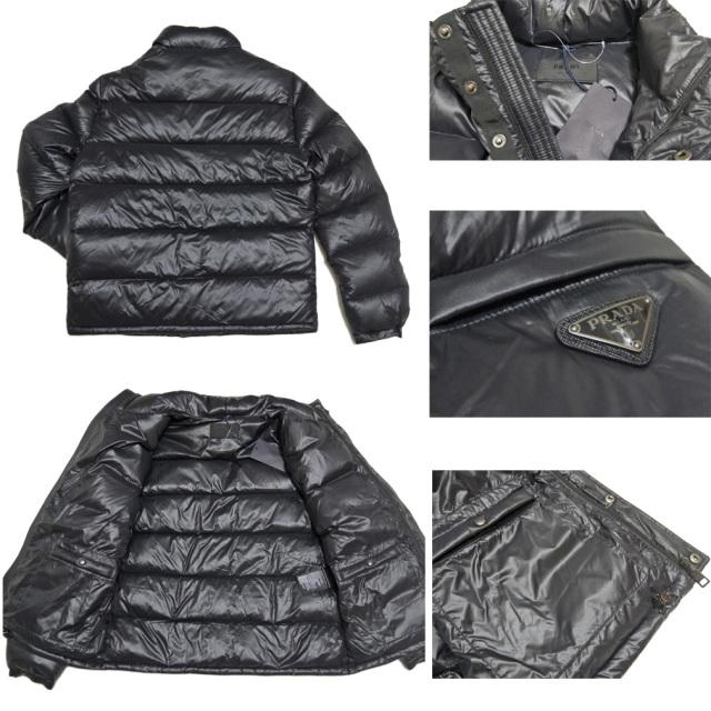 プラダ メンズ ダウンジャケット SGJ258 黒 #50  PRADA
