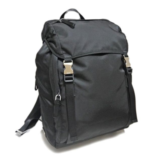 プラダ メンズ ナイロン バックパック(リュック) 黒 2VZ062 PRADA
