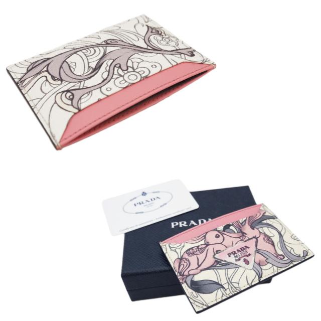 プラダ うさぎが可愛い レザー名刺入れ(カードケース) ピンク 1MC208 PRADA