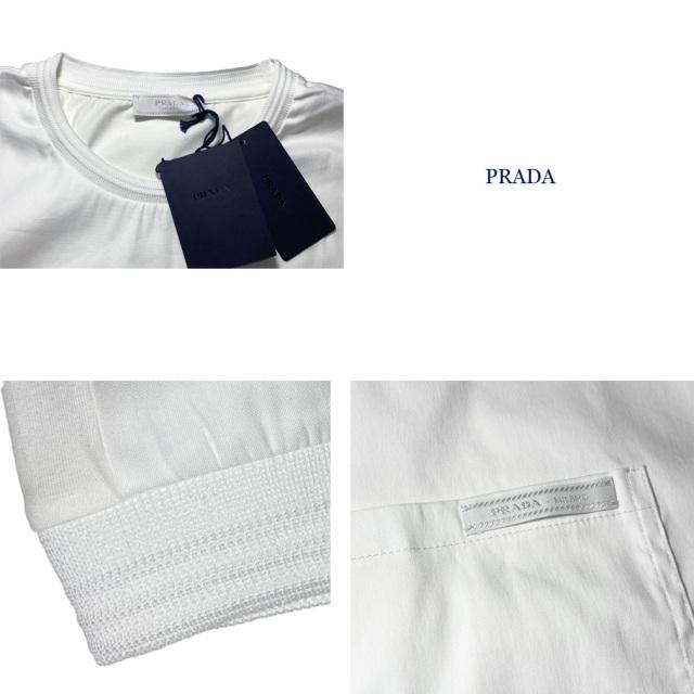 プラダ メンズ  クルーネックTシャツ 白 #XL  PRADA