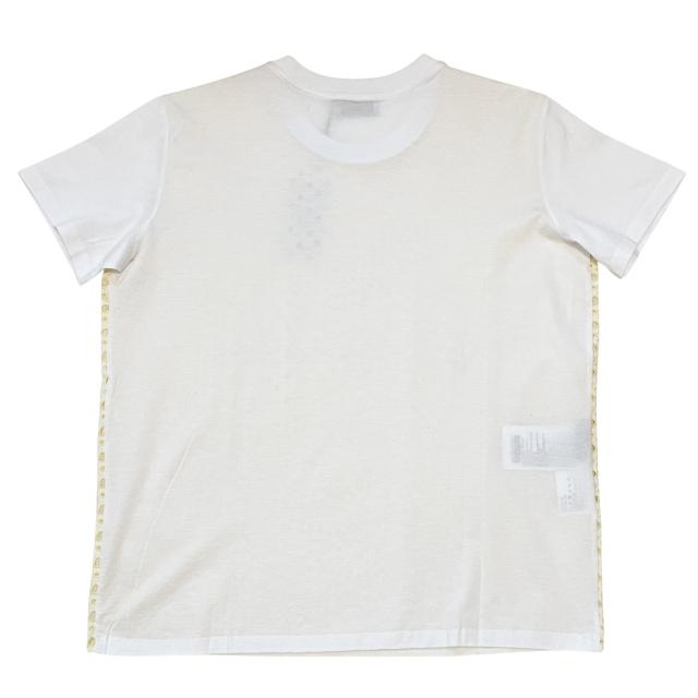 プラダ クルーネック レースTシャツ 白×イエロー #XXL PRADA