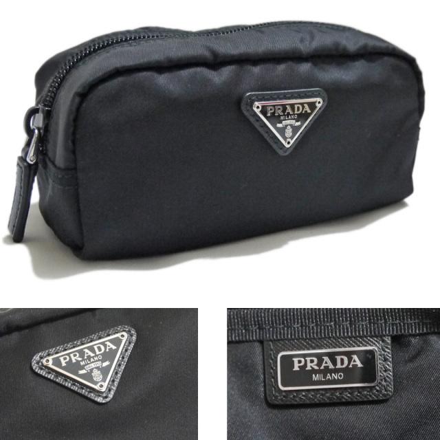 プラダ ナイロン化粧ポーチ 黒 1N0175 PRADA