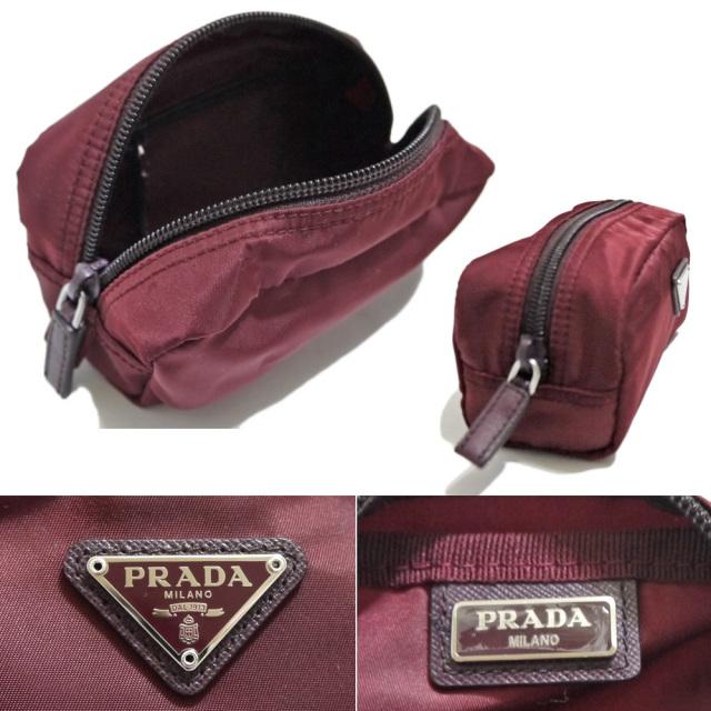 プラダ ナイロン化粧ポーチ ボルドー(GRANATO) 1N0175 PRADA