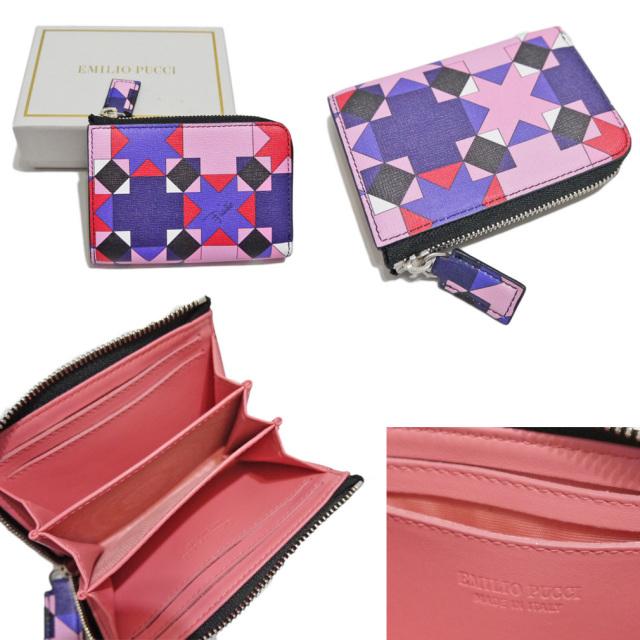エミリオプッチ カードケース(名刺入れ) ピンク EMILIO PUCCI