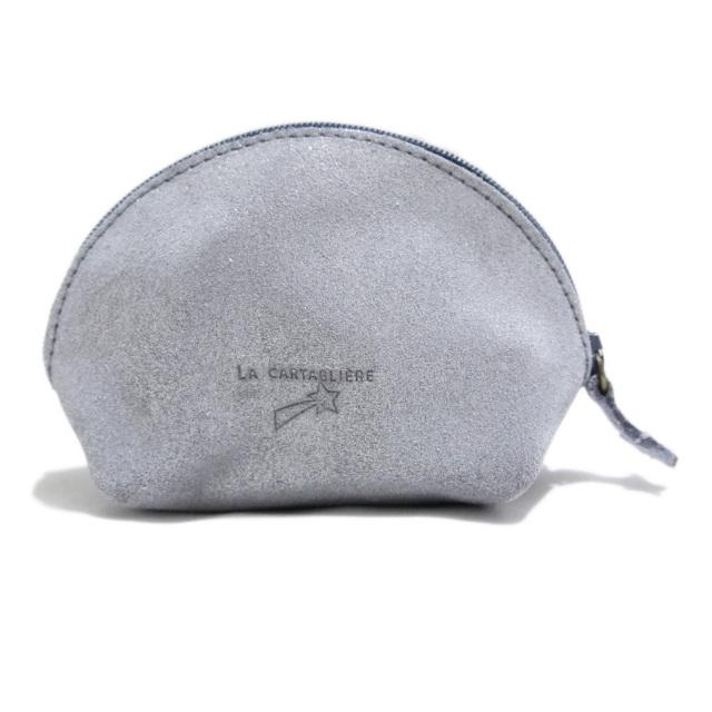 ラカルタブリエ フランス製 きらきらスエード 半円ポーチ #M  LA CARTABLIERE