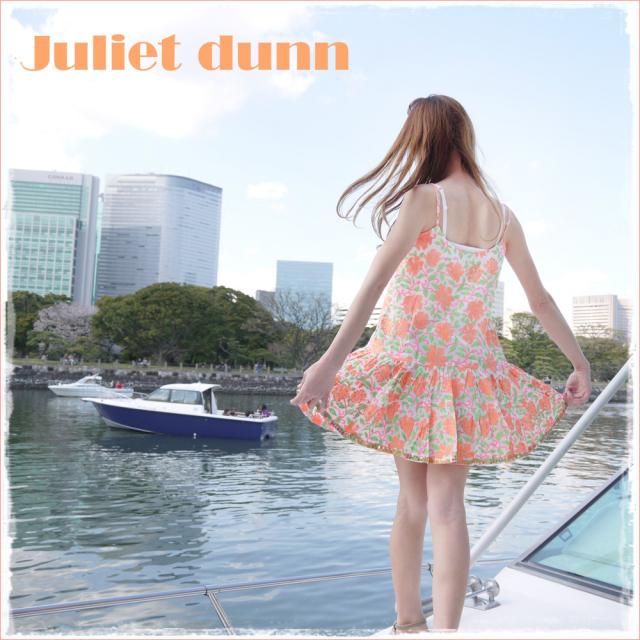 09940889da73e2 juliet dunn london 水着の上に ネオンカラーが可愛い チュニックキャミソール(ワンピース)