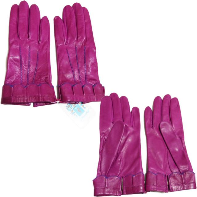 ポートランド イタリア製 レザーグローブ(手袋) 紫 #8 PORTLAND