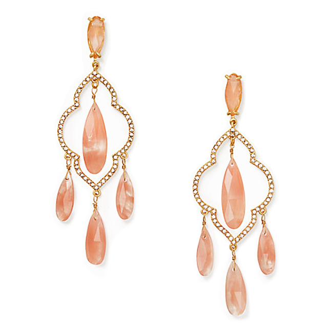 ケイトスペード シャンデリア ピアス ピンク(lantern gems chandelier earrings) kate spade