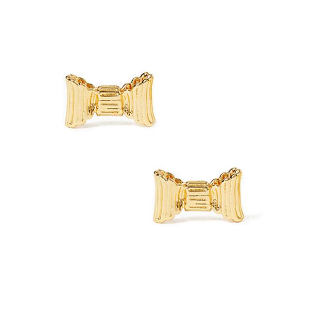 ケイトスペード リボン ピアス(all wrapped up studs) ゴールド kate spade