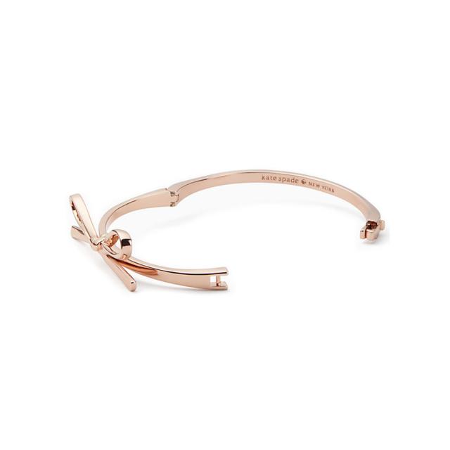 ケイトスペード リボン バングル(skinny mini bow bangle) ゴールド kate spade