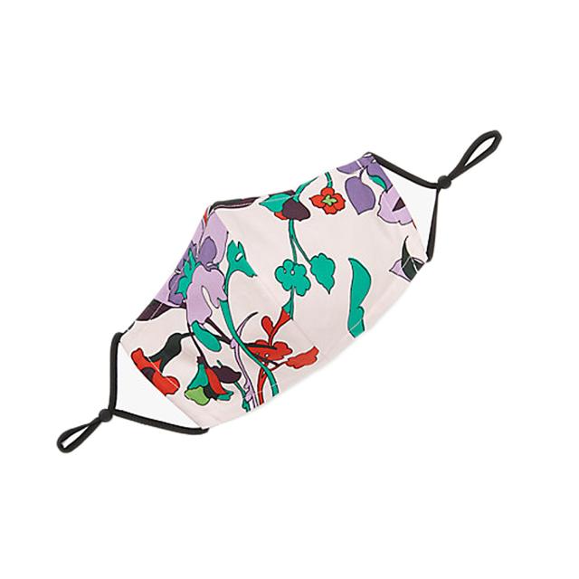 ケイトスペード 花柄 コットン マスク kate spade