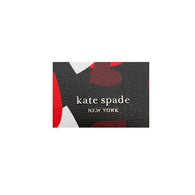 ケイトスペード ハート柄 カードケース 黒×赤(spencer celebration hearts cardholder) kate spade