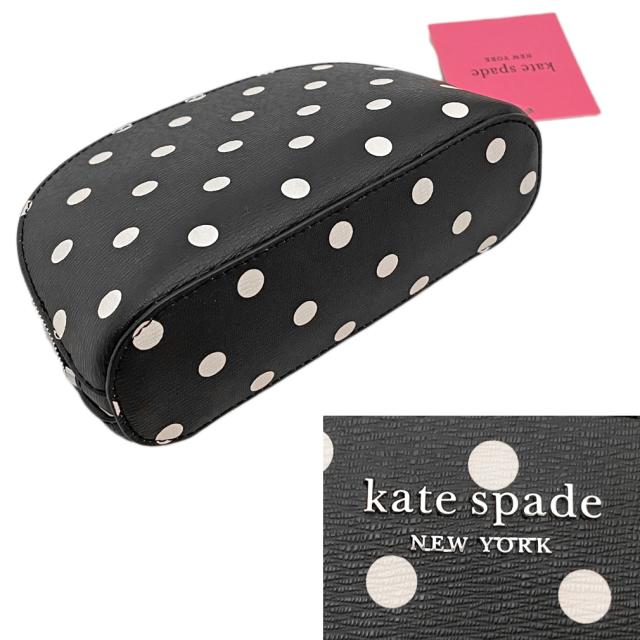ケイトスペード ドット柄 化粧ポーチ 黒(spencer dots)kate spade