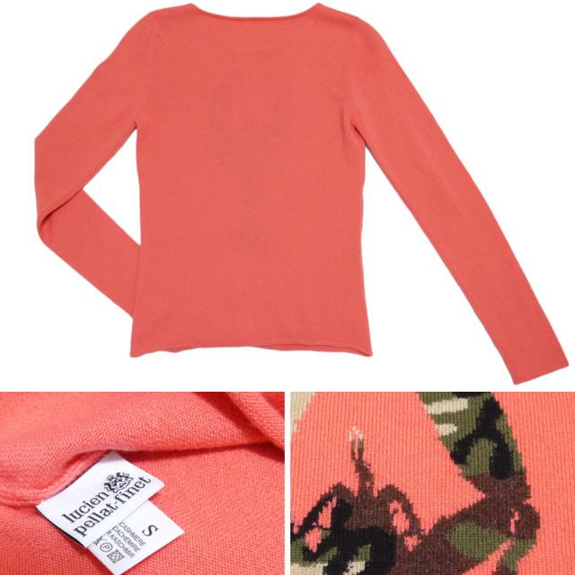 ルシアンペラフィネ カシミア100%セーター さそり ピンク #S lucien pellat-finet