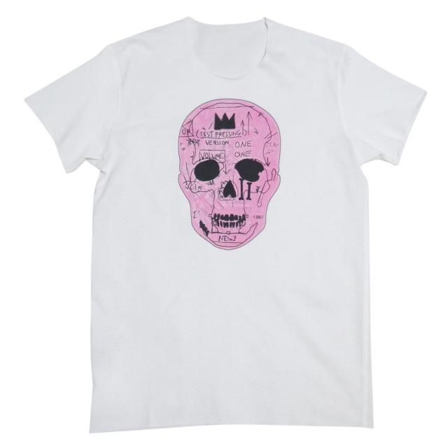 ルシアンペラフィネ メンズ ピンクスカル Tシャツ 白 #M lucien pellat-finet