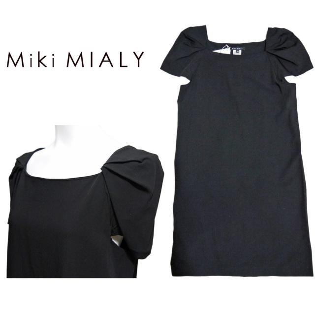 ミキミアリ 半袖ワンピース 黒 #34 Miki MIALY