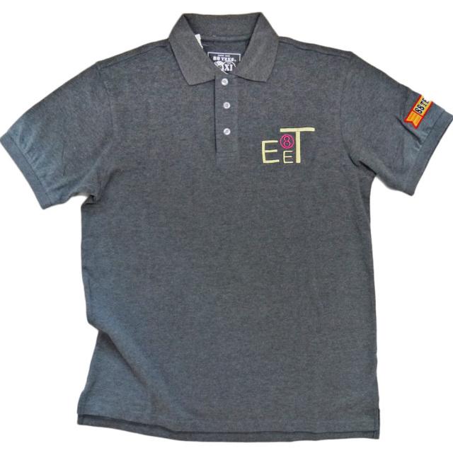 88Tees メンズ 鹿の子 ポロシャツ チャコールグレー #XL