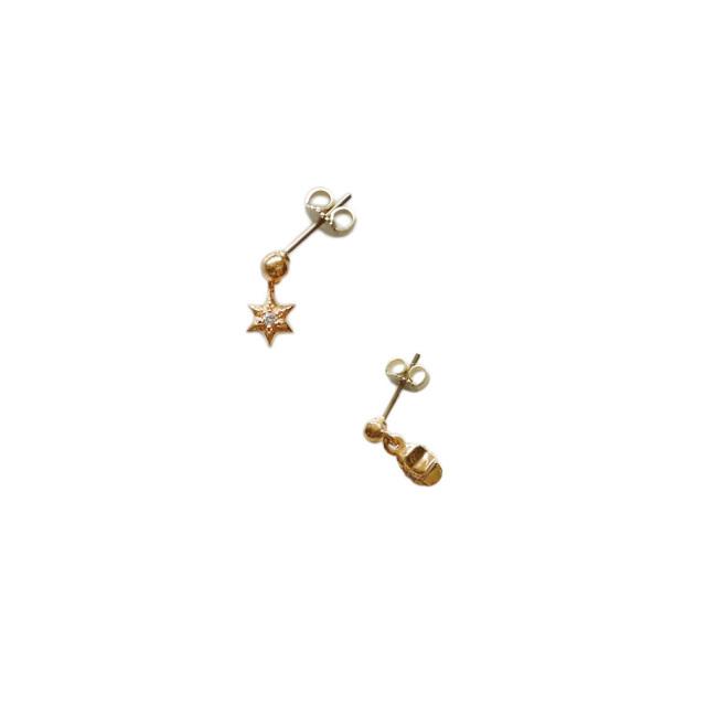 クロムハーツ K22 ダイヤモンド TINY STARスタードロップピアス ゴールド CHROME HEARTS