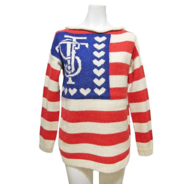 ツインセット アメリカ国旗風セーター  #XS TEIN-SET