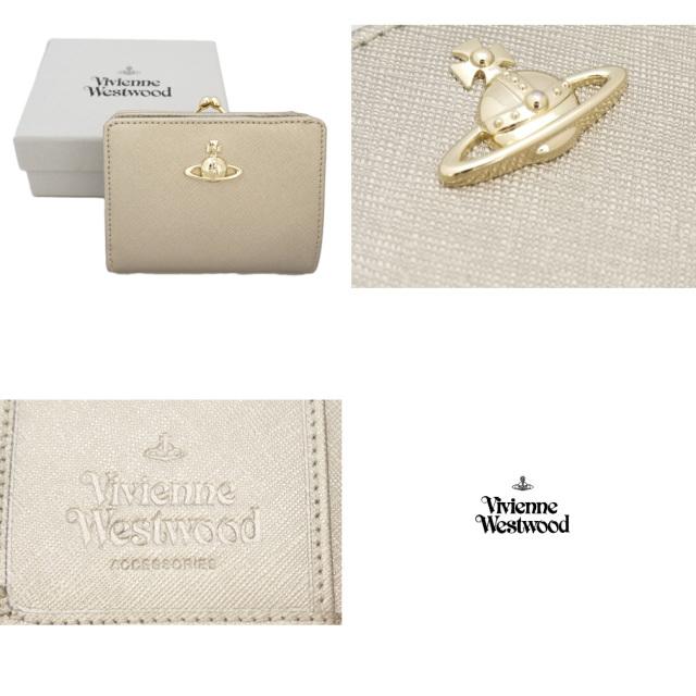 ヴィヴィアンウエストウッド PIMLICO 二つ折りがま口財布 ゴールド  Vivienne Westwood