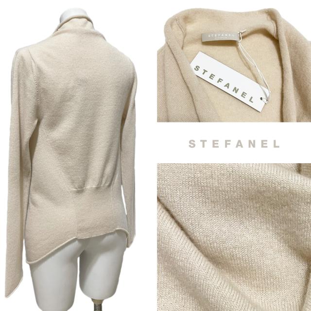 ステファネル カシミア100%セーター オフホワイト #S STEFANEL