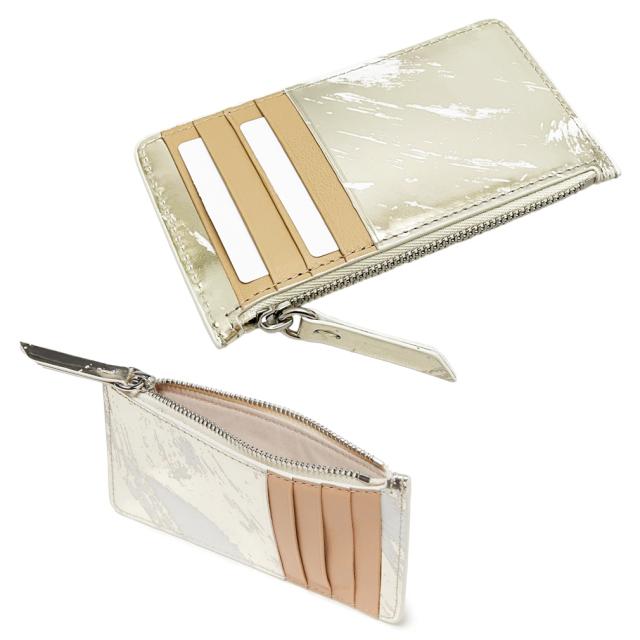 メゾンマルジェラ カードケース兼コインケース コンパクト財布 ゴールド MAISON MARGIELA