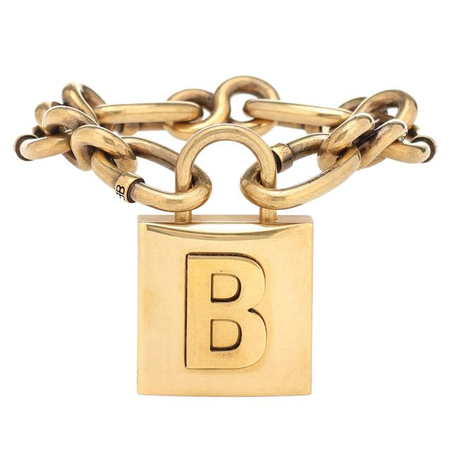 バレンシアガ ロックチェーンブレスレット Lock chain bracelet ゴールド BALENCIAGA