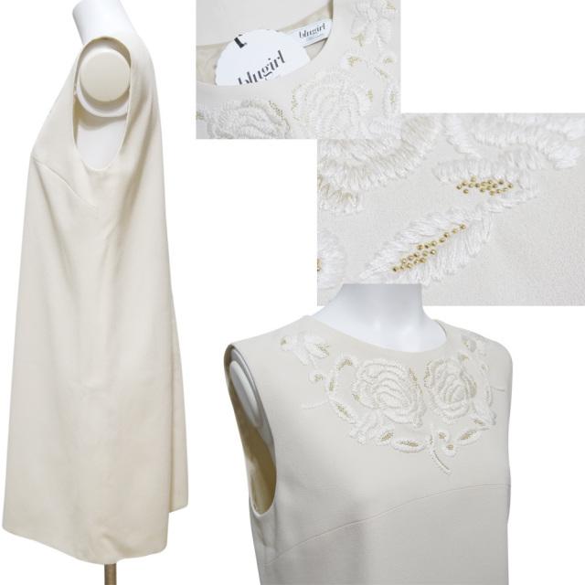 ブルーガール 刺繍が素敵 ノースリーブワンピース 白 #42 blugirl