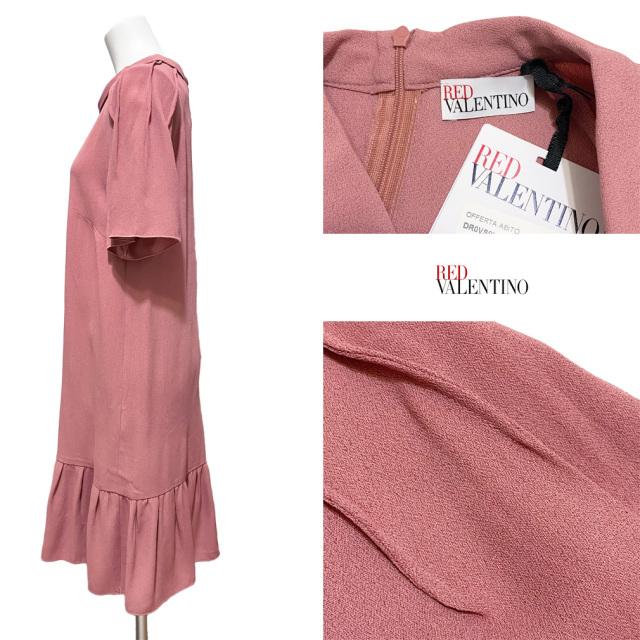 レッド ヴァレンティノ 半袖ワンピース ピンク #42 RED VALENTINO