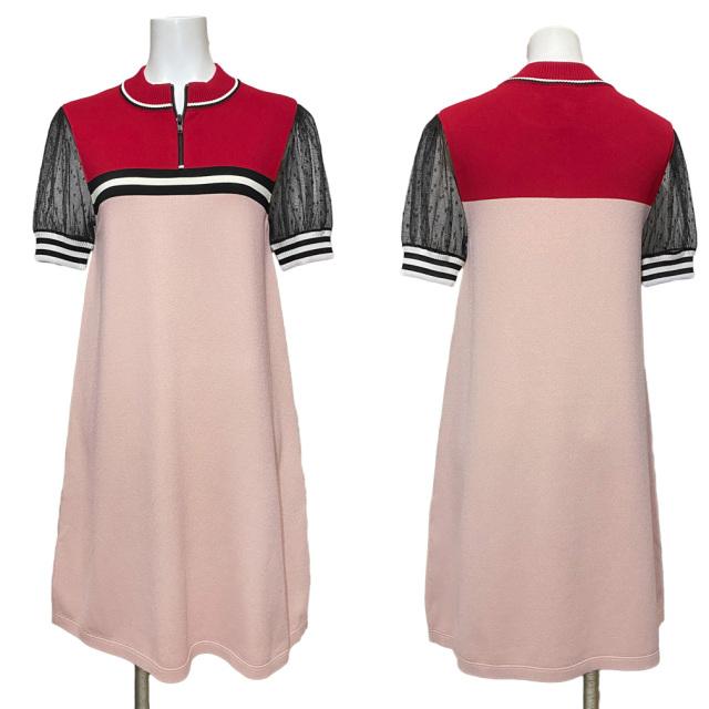 レッドヴァレンティノ スポーツ&セクシー半袖ワンピース ピンク #XS RED VALENTINO
