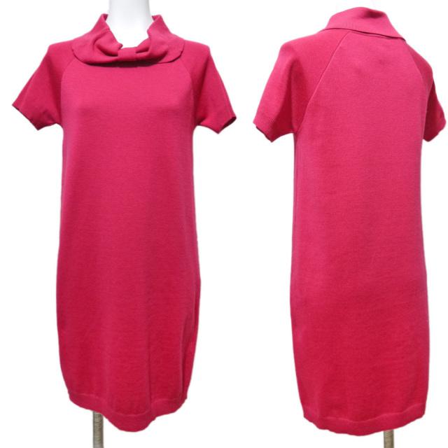 レッドヴァレンチノ 半袖 ニットワンピース ピンク #XS RED VALENTINO